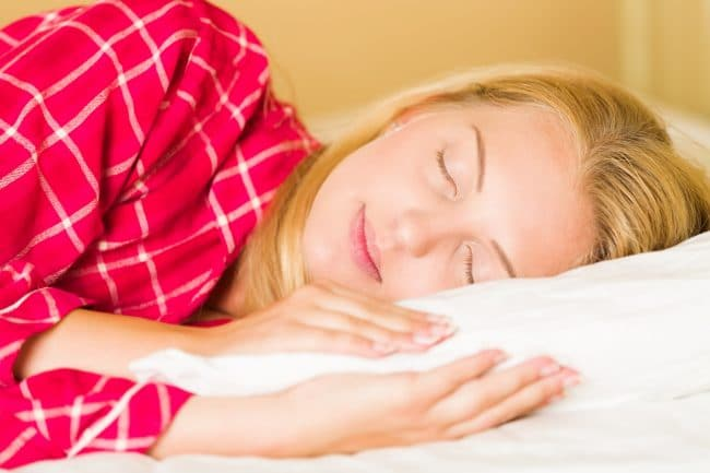 The right sleeping position helps prevent acid reflux